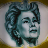 airbrush painting portrait blues star Etta James