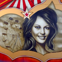 airbrush aerograf graffiti claudia cardinale portrait portret