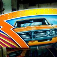 airbrush aerograf autoscooter dodgems carrousel rollercoaster gasmonkey tuning cars race speed aston martin pontiac