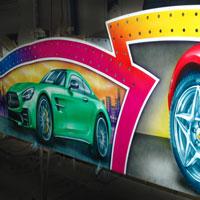 airbrush aerograf autodrom autoscooter dodgems karuzele rollercoaster gasmonkey cars race speed