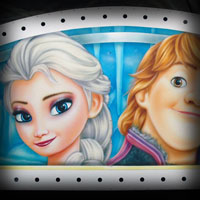 airbrush attraction painting aerograf karuzela decki kolotoc czech republik cartoon disney frozen kraina lodu elza kristof