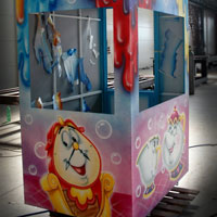 airbrush aerograf attraction carrousel karuzele piękna i bestia beauty and beast casse
