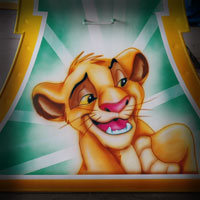 airbrush aerograf attraction carrousel karuzele  bajki disney