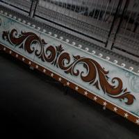airbrush aerograf attraction painting ferris wheel karuzela malowanie ornamenty silver white złoty srebrny  róże