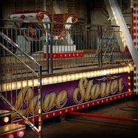 airbrush carrousel ferris wheel rides love stories color lights