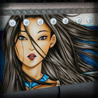 airbrush attraction painting love stories pocahontas disney