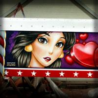 airbrush carrousel love stories yasmina aladdin ariel mermaid disney hearts