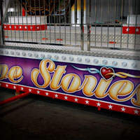 airbrush ferris wheel rides love stories theme