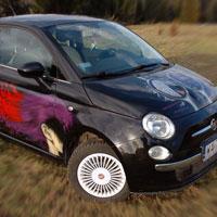 airbrush aerograf graffiti samochód fiat500