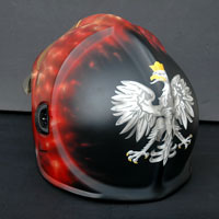 airbrush real flames firefighter helmet Gallet