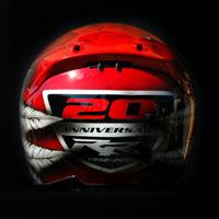 airbrush helmet cbr rr 20th anniversary