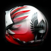 airbrush aerograf kask motocyklowy motorcycle helmet airoh husaria polska patriotyczny poland