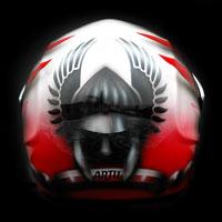 airbrush aerograf kask motocyklowy motorcycle helmet airoh husaria patriotyczny poland warrior