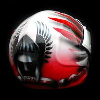 airbrush aerograf kask motocyklowy motorcycle helmet airoh husaria polska patriotyczny poland warrior