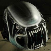 aerograf airbrush alien helmet