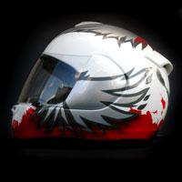 aerograf malowanie kasku Arai helmet otocykl polska poland patriotyzm husaria biało czerwony polska walcząca
