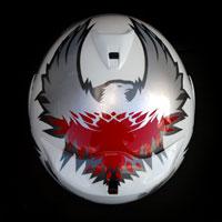 airbrush malowanie kasku Arai helmet motorcycle polska poland patriotyzm husaria orzeł polska walcząca