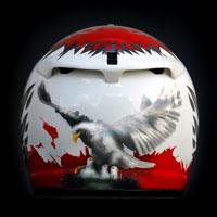 airbrush aerograf Arai helmet motorcycle motocykl poland patriotyzm husaria orzeł biało czerwony pw