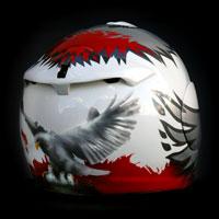 airbrush aerograf malowanie kasku helmet motorcycle motocykl polska poland husaria orzeł biały polska walcząca