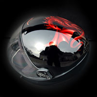 airbrush malowanie aerografem kask spadochronowy skydiving helmet G3 Cookie smok dragon