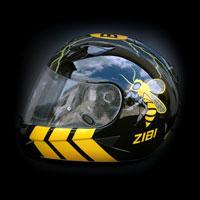 aerograf malowanie kasku helmet HJC IS-16 Borussia Dortmung bee wasp osa pszczoła
