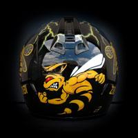 airbrush aerograf kask helmet motorcycle HJC Borussia Dortmung BVB bee osa pszczoła