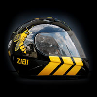 airbrush aerograf malowanie kasku motorcycle HJC IS-16 Borussia BVB bee wasp osa