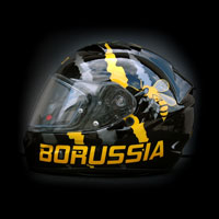 aerograf malowanie kasku helmet Scorpion Exo Borussia Dortmung BVB wasp osa pszczoła