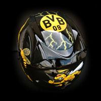 airbrush malowanie kasku helmet motorcycle Borussia Dortmung BVB bee osa pszczoła