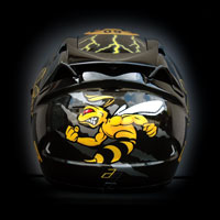 airbrush aerograf kask helmet motorcycle Scorpion Dortmung BVB bee wasp pszczoła