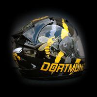 airbrush aerograf malowanie helmet motorcycle Scorpion Exo Borussia BVB bee wasp osa