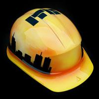 airbrush aerograf helmet kask budowlany ITB