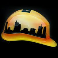 airbrush aerograf helmet kask budowlany ITB Instytut Techniki Budowlanej