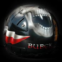 airbrush aerograf helmet skull poland kask czaszka czacha polska