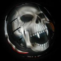 airbrush aerograf custompainting helmet skull death kask czaszka czacha smierc