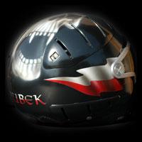 airbrush aerograf helmet poland kask motocyklowy czacha polska flaga
