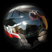 airbrush aerograf poland kask polska jet motorcycle