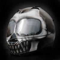 airbrush malowanie aerografem kask fullface skull effect nolan
