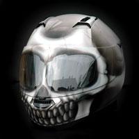 airbrush malowanie aerografem kask czacha skull nolan