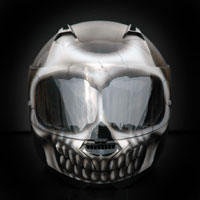 airbrush malowanie aerografem kask czacha skull effect nolan