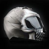 airbrush malowanie aerografem kask czacha fullface skull effect