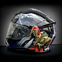 airbrush aerograf helmet shoei nxr darksiders war skull art wojna gra komputerowa