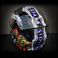 airbrush aerograf kask shoei nxr darksiders game war skull art wojna