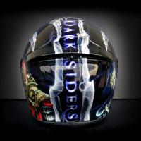 airbrush aerograf kask helmet nxr darksiders game war death skull art wojna śmierć gra