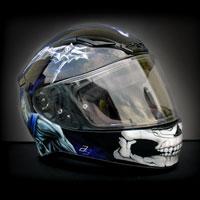 airbrush aerograf kask helmet shoei nxr game death skull art śmierć