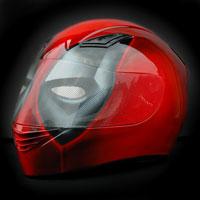 airbrush aerograf motorcycle helmet fullface deadpool
