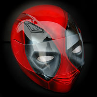 airbrush aerograf motorcycle helmet full face dead pool