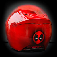 airbrush aerograf motorcycle helmet fullface dead pool