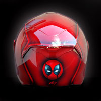 airbrush aerograf kask motocyklowy  custom helmet d-skwal shark deadpool spiderman venom fullface head red