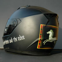 airbrush aerograf helmet rohan flag LOTR
